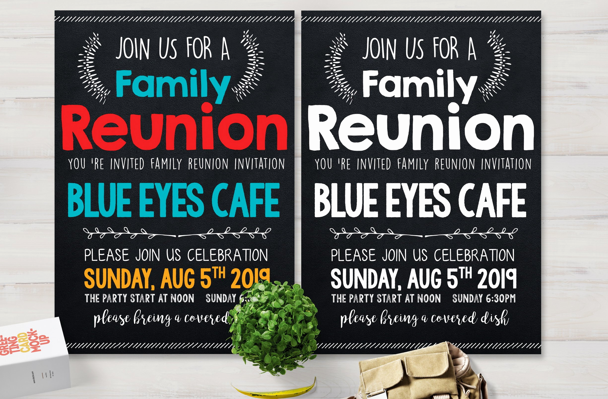 Family Reunion Flyers Templates Awesome Family Reunion Party Flyer Card Templates Creative Market