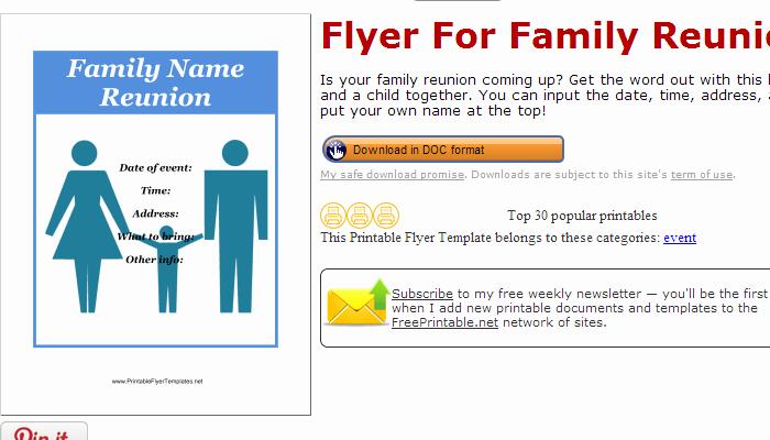 Family Reunion Flyers Templates Beautiful 3 Free Family Reunion Flyer Templates