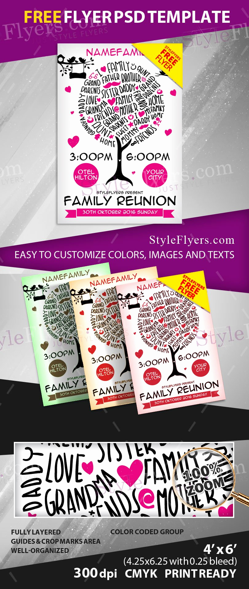 Family Reunion Flyers Templates Beautiful Family Reunion Free Psd Flyer Template Free Download