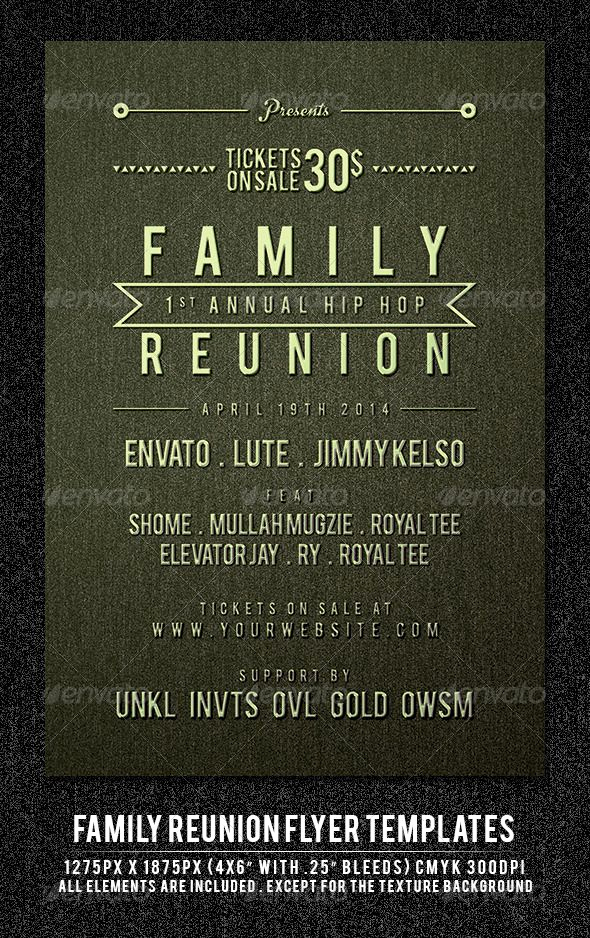 Family Reunion Flyers Templates Elegant Family Reunion Flyer Template