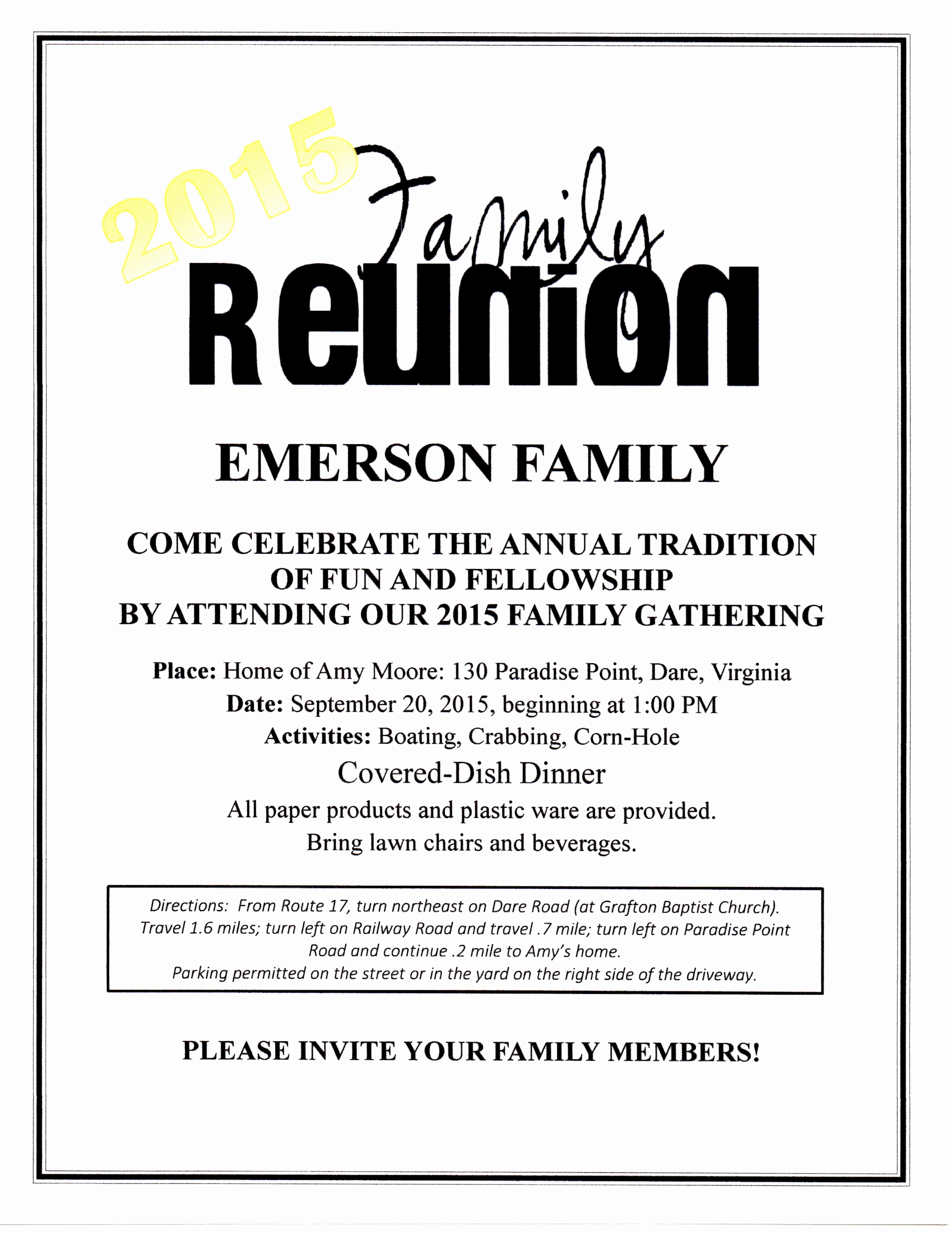 Family Reunion Flyers Templates Fresh 2015 Family Reunion