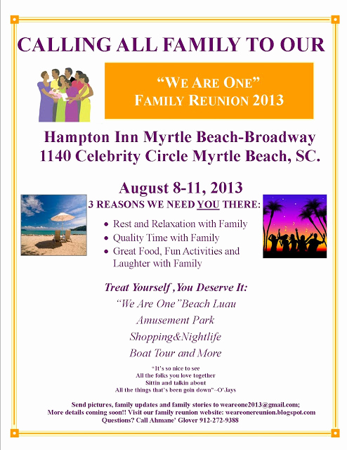 Family Reunion Flyers Templates Inspirational We are E Family Reunion Family Reunion Schedule August