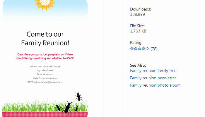 Family Reunion Flyers Templates Luxury 3 Free Family Reunion Flyer Templates