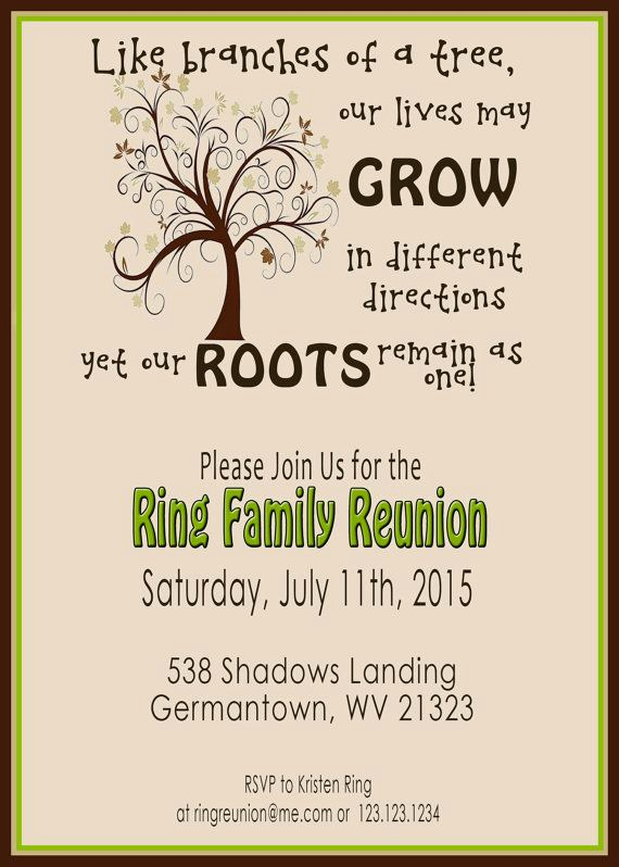 Family Reunion Flyers Templates Unique Family Reunion Invite Swirly Tree Printable Digital