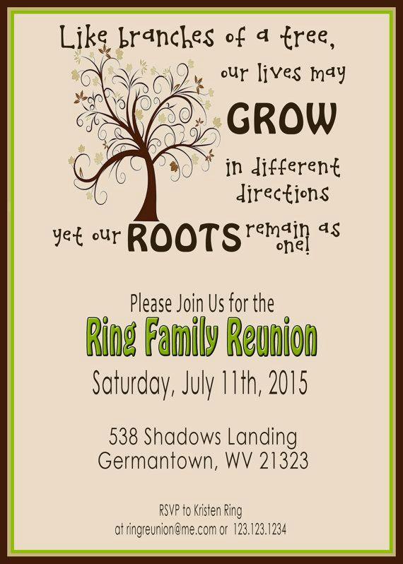 Family Reunion Flyers Templates Unique Family Reunion Invite Swirly Tree Printable Digital