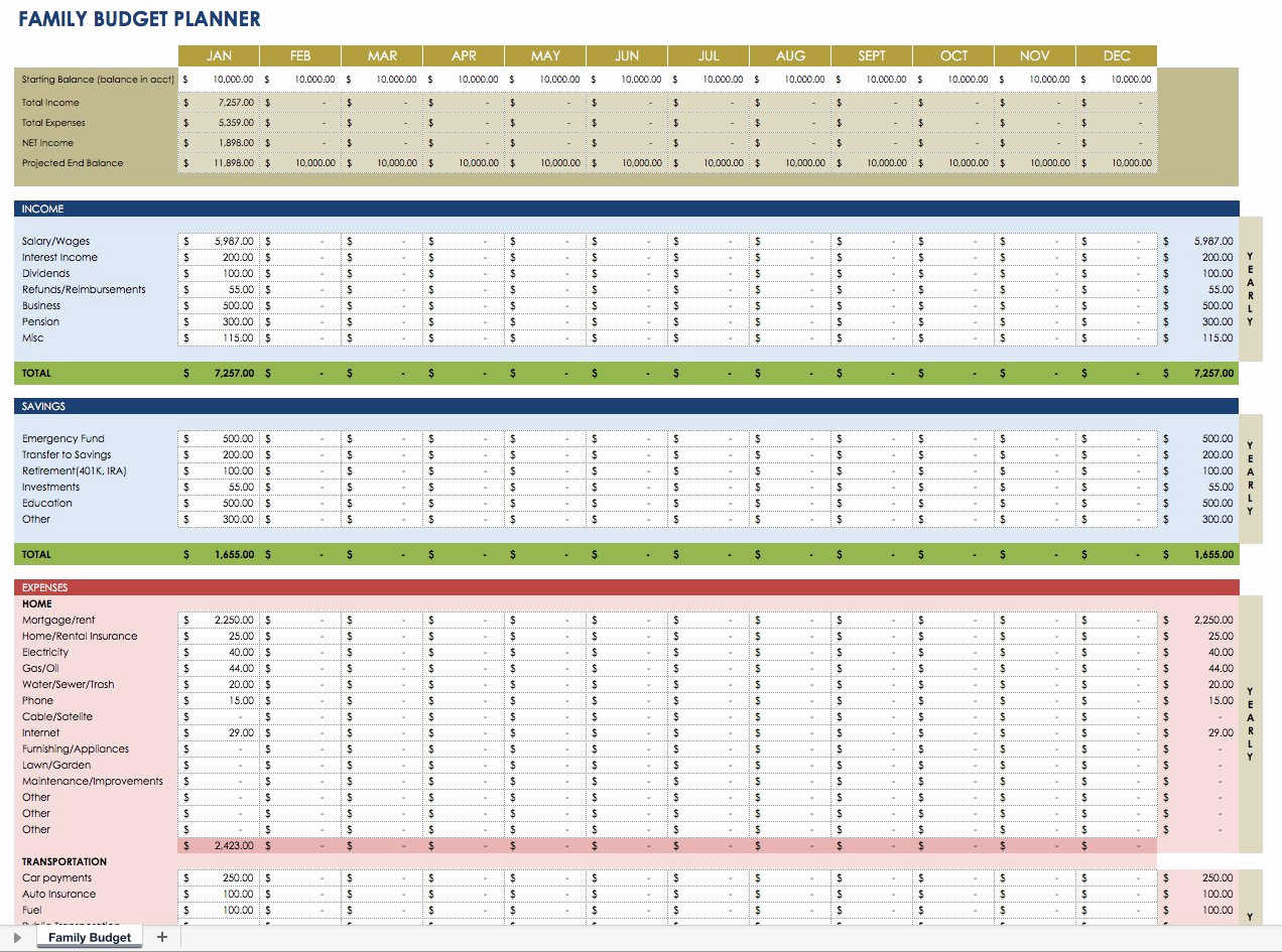 Financial Plan Template Excel Best Of Free Financial Planning Templates