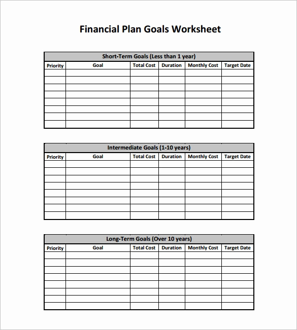 Financial Plan Template Excel Lovely Financial Plan Templates 11 Word Excel Pdf Documents