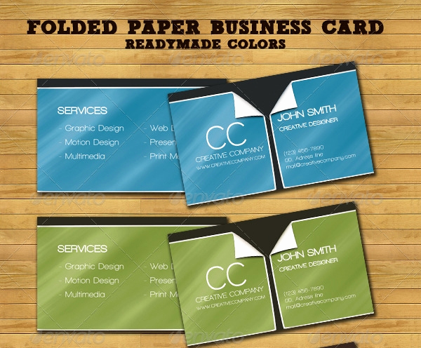 Folding Business Cards Template Awesome 22 Folded Business Cards Psd Ai Vector Eps