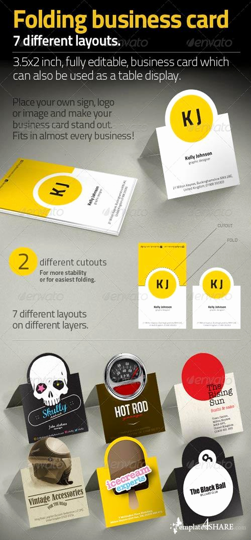 Folding Business Cards Template Awesome Graphicriver Folding Business Card Templates4share