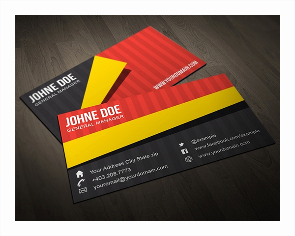 Folding Business Cards Template Beautiful 22 Folded Business Cards Psd Ai Vector Eps