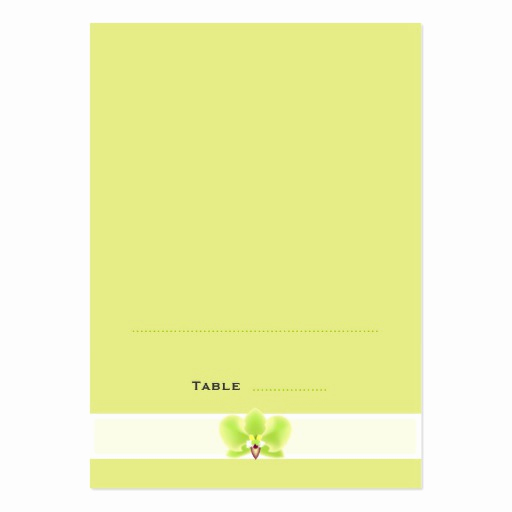 Folding Business Cards Template Best Of Green orchid Folded Place Cards Business Card Templates