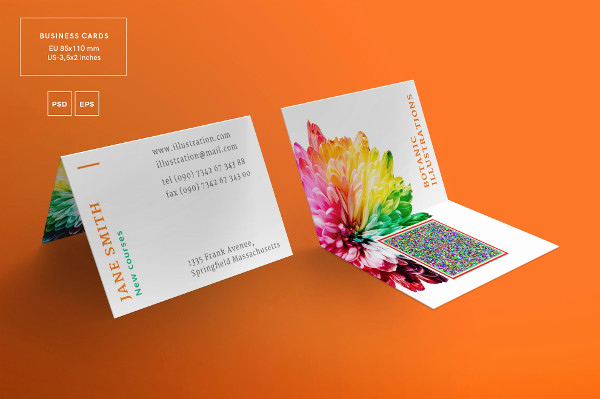 Folding Business Cards Template Lovely 21 Folded Business Cards Free & Premium Download