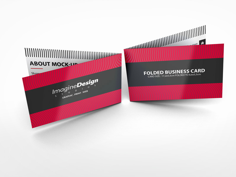 Folding Business Cards Template Luxury Folded Business Card Mockup V1 by Idesignstudio Dribbble