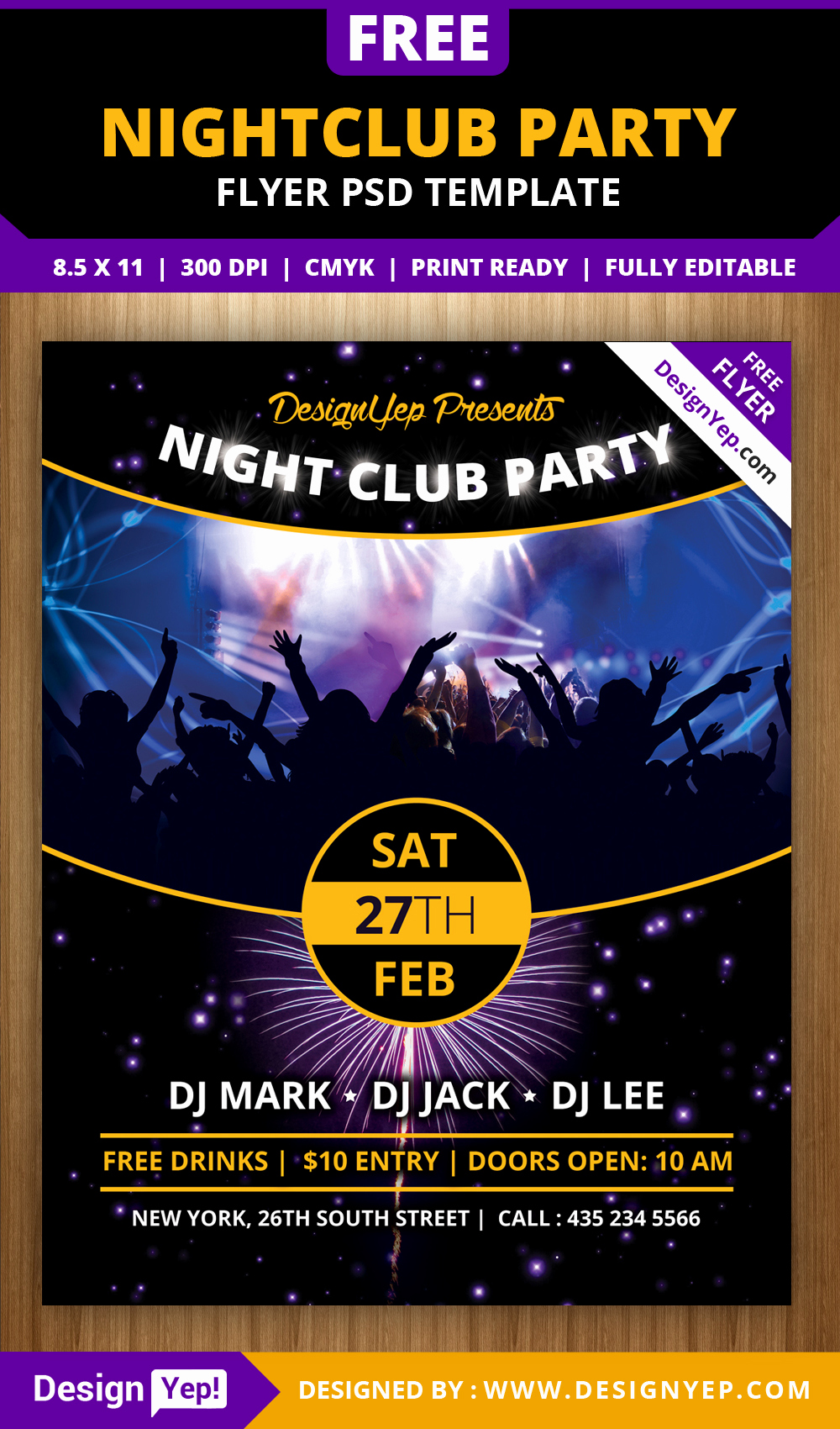 Free Download Flyer Template Best Of Free Nightclub Party Flyer Psd Template Designyep