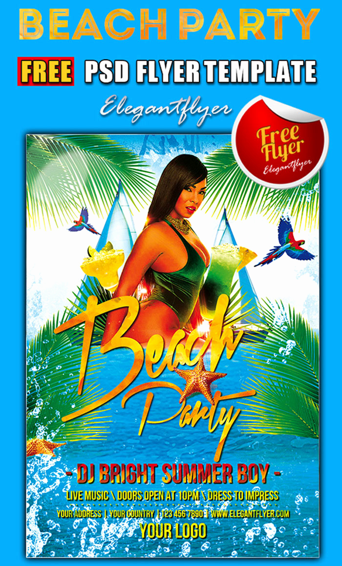 Free Download Flyer Template Elegant 15 Free Beach Party Flyer Psd Templates Designyep