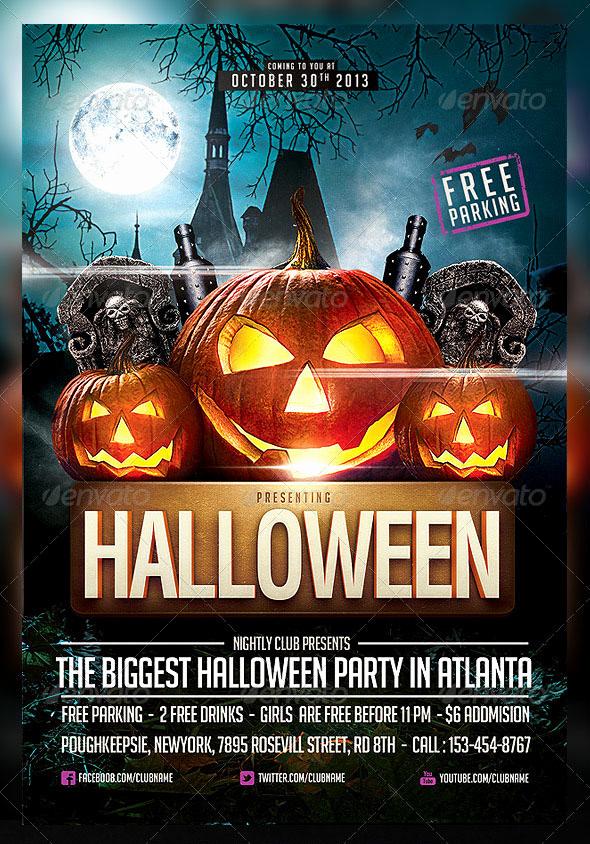 Free Download Flyer Template Elegant 60 Premium & Free Psd Halloween Flyer Templates
