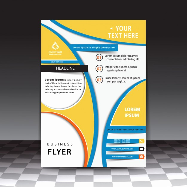 Free Download Flyer Template Inspirational Abstract Business Flyer Template Free Vectors