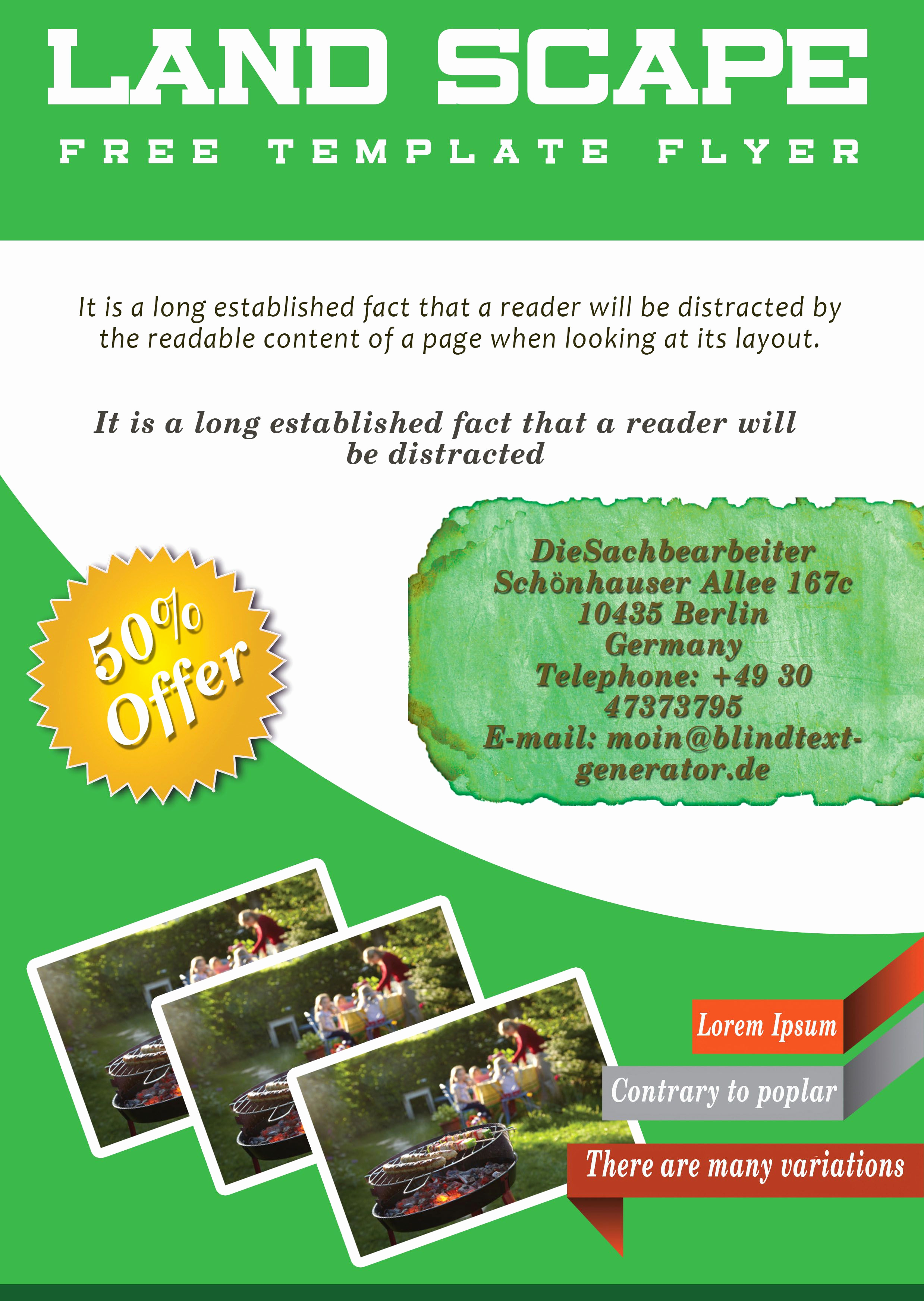 Free Download Flyer Template Lovely Free Landscaping Flyer Templates to Power Lawn Care