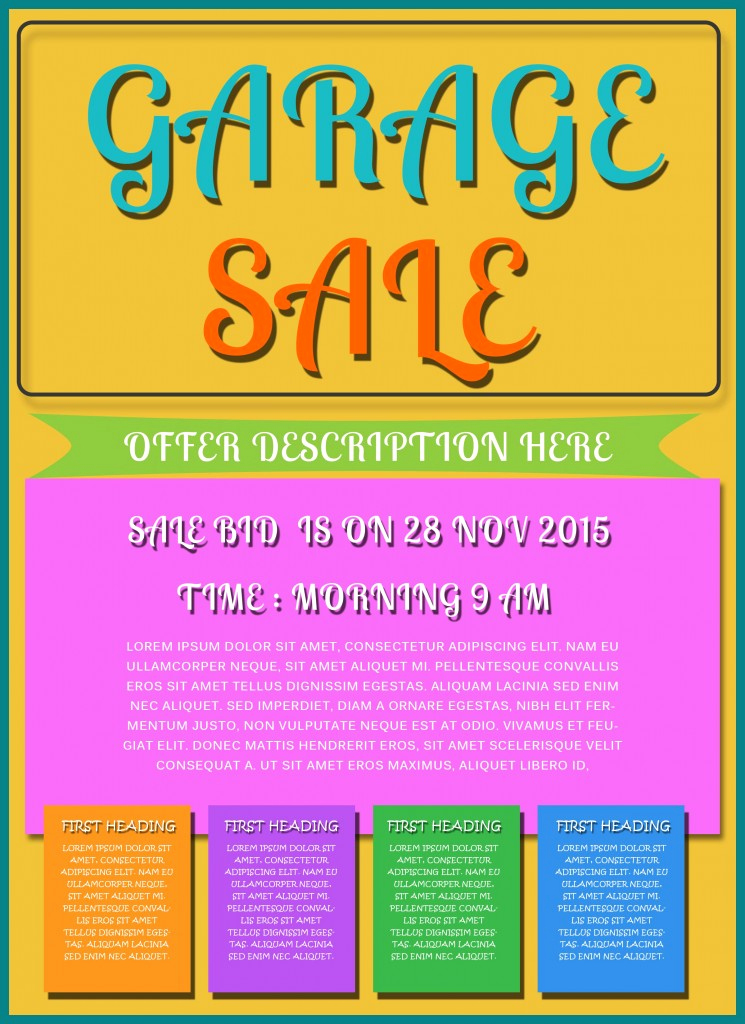 Free Download Flyer Template Luxury Free Printable Garage Sale Flyers Templates attract More