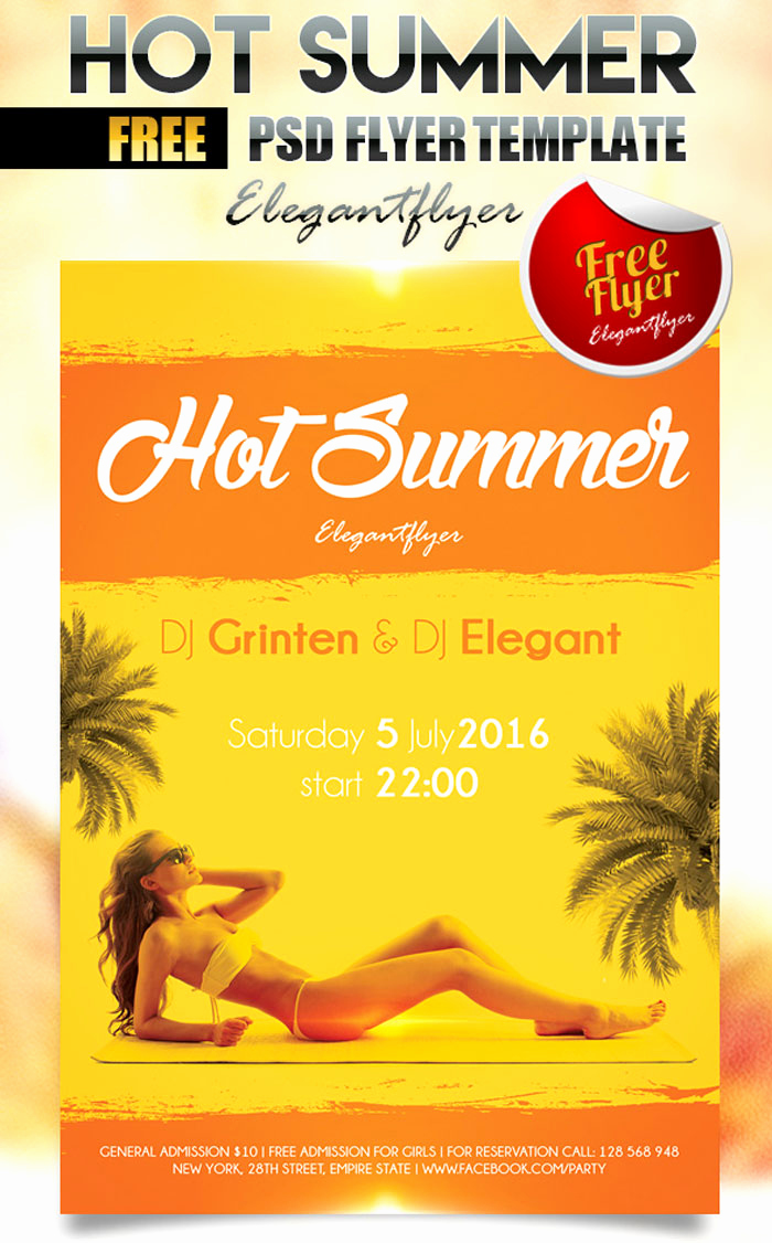 Free Download Flyer Template New 25 Free Summer Party Flyer and Poster Psd Templates