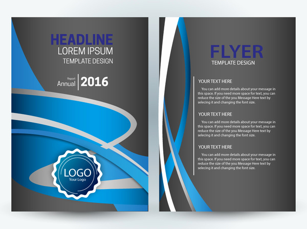 Free Download Flyer Template New Vector Editable Flyer Template Free Vector