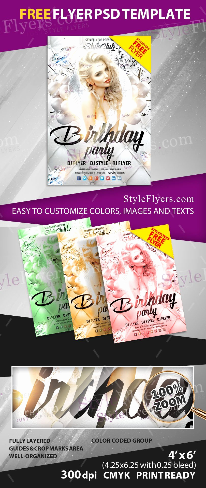 Free Download Flyer Templates Awesome Birthday Party Free Psd Flyer Template Free Download