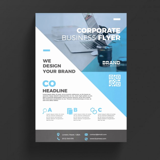 Free Download Flyer Templates Awesome Blue Corporate Business Flyer Template Psd File