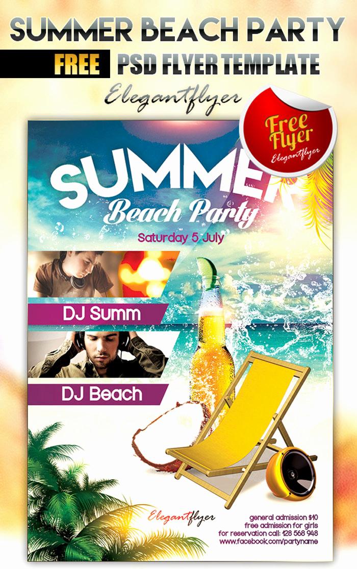 Free Download Flyer Templates Elegant 15 Free Beach Party Flyer Psd Templates Designyep
