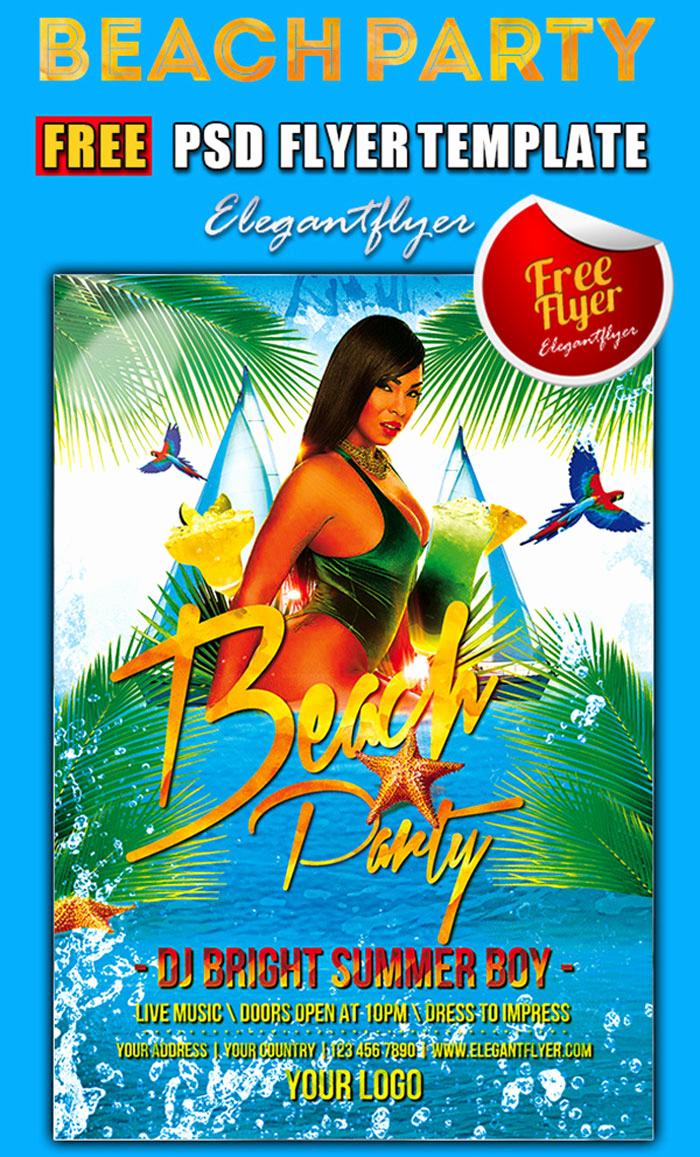 Free Download Flyer Templates Fresh 15 Free Beach Party Flyer Psd Templates Designyep