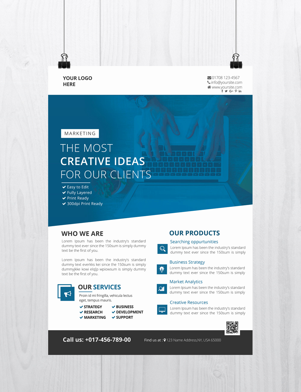 Free Download Flyer Templates Luxury Creative Business Download Free Psd Flyer Template