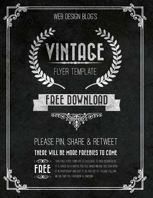 Free Download Flyer Templates New Download the Free Vintage Chalkboard Flyer Psd Template