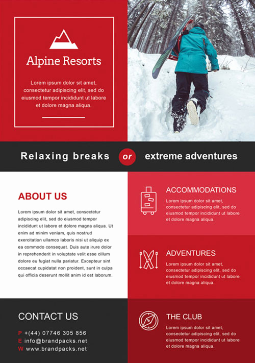 Free Download Flyer Templates Unique Free Alpine Resorts Business Flyer Template Download for