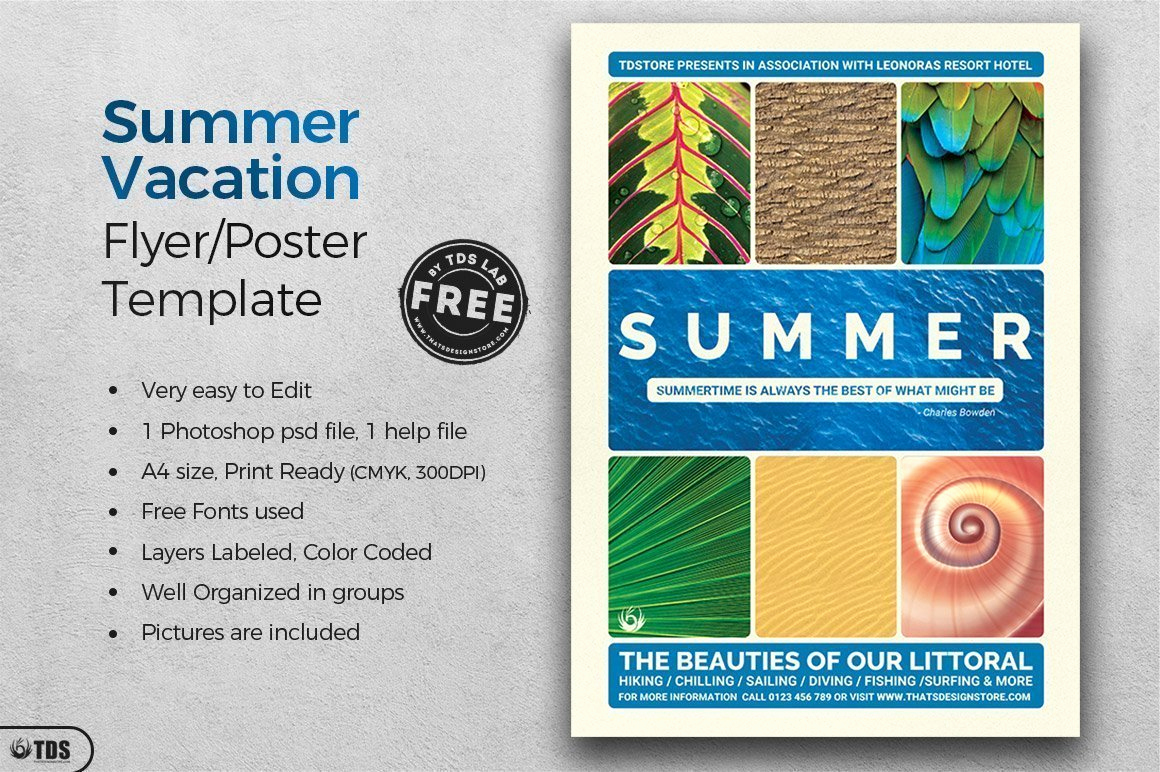Free Download Flyer Templates Unique Free Summer Vacation Flyer Template