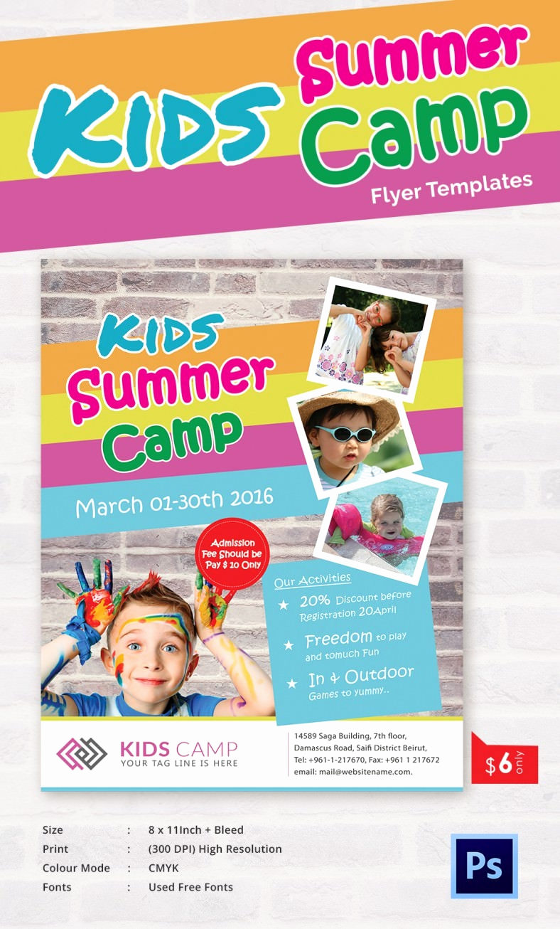 Free Downloadable Flyer Templates Inspirational Summer Camp Flyer Templates – 47 Free Jpg Psd Esi