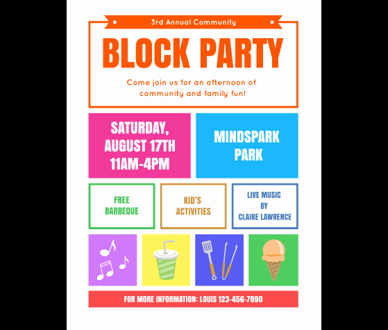 Free Downloadable Flyer Templates Lovely Download This Block Party Flyer Template and Other Free