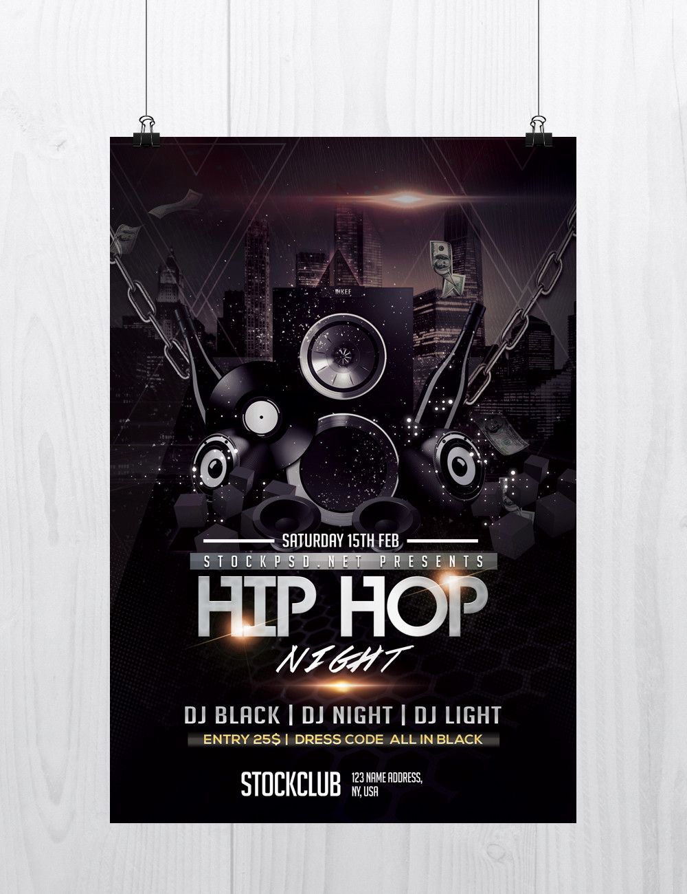 Free Downloadable Flyer Templates Luxury Hip Hop Music Download Free Psd Flyer Template Stockpsd