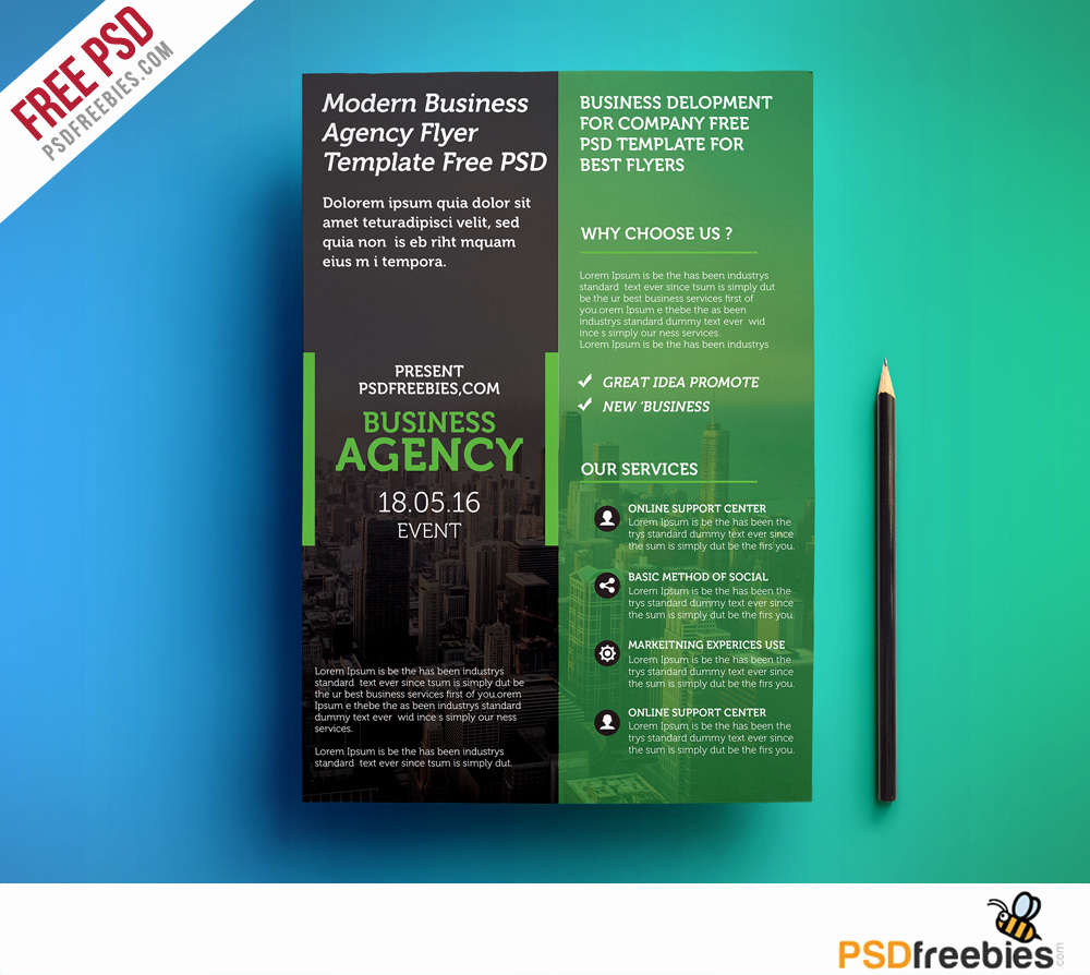 Free Downloadable Flyer Templates Luxury Modern Business Agency Flyer Template Free Psd