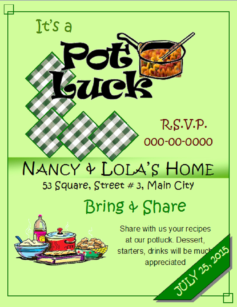 Free Downloadable Flyer Templates Luxury the Gallery for Fice Potluck Flyer