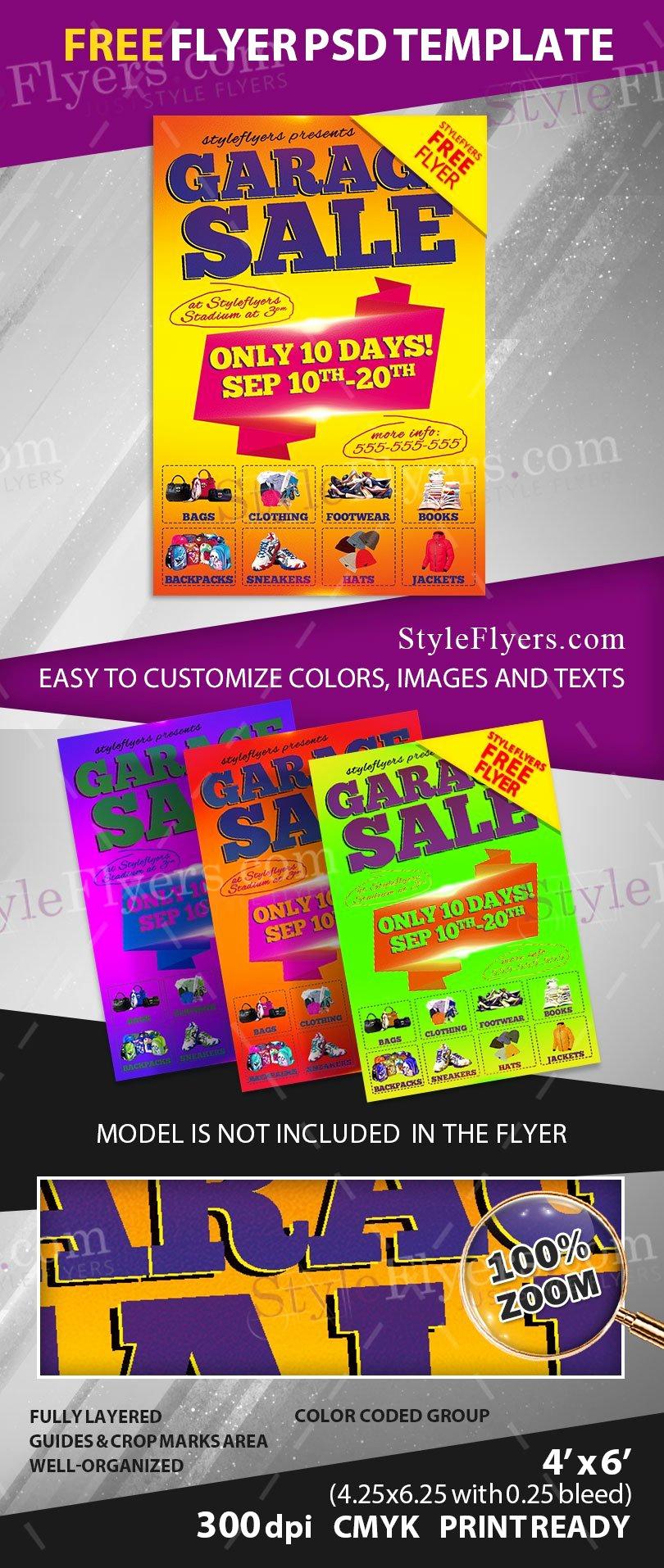 Free Downloadable Flyer Templates Unique Garage Sale Free Psd Flyer Template Free Download