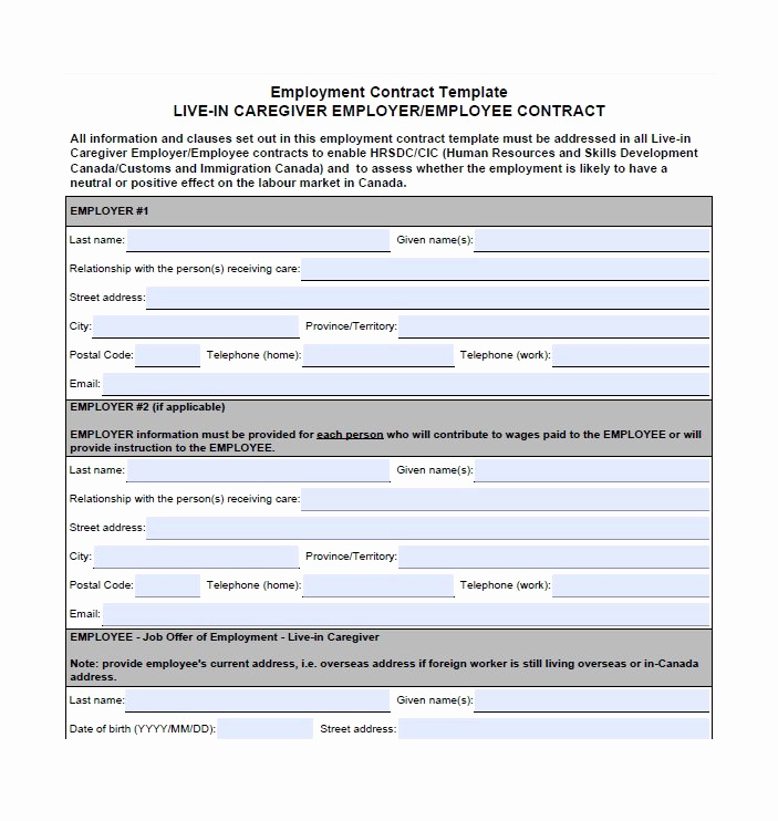 Free Employment Contract Templates Fresh 40 Great Contract Templates Employment Construction