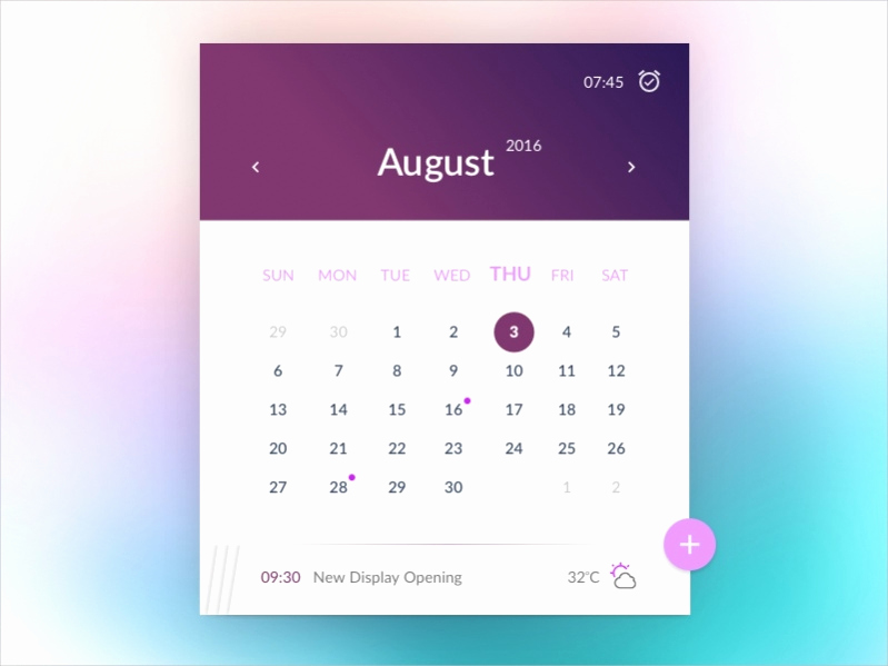 Free event Calendar Template Beautiful 17 Free Monthly Calendars Psd Vector Eps Excel Download
