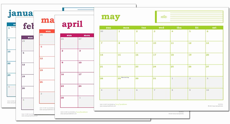 Free event Calendar Template Best Of Easy event Calendar Excel Template