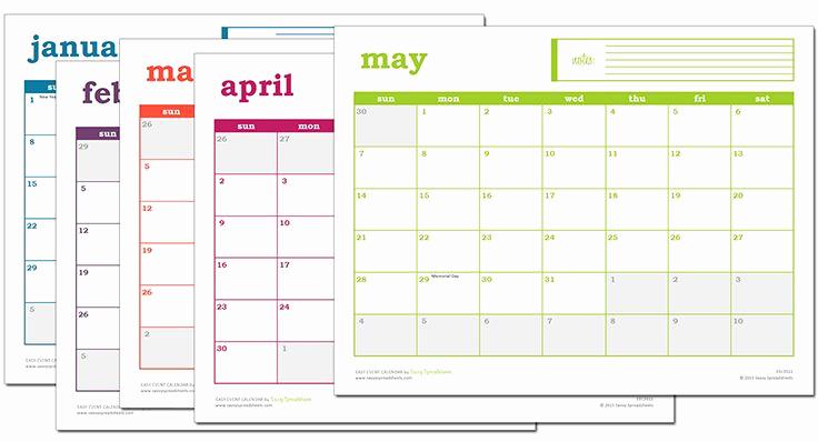Free event Calendar Template Best Of Easy event Calendar Excel Template