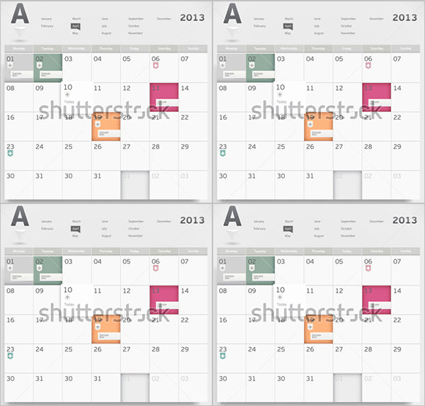 Free event Calendar Template Fresh event Calendar Templates 16 Free Download