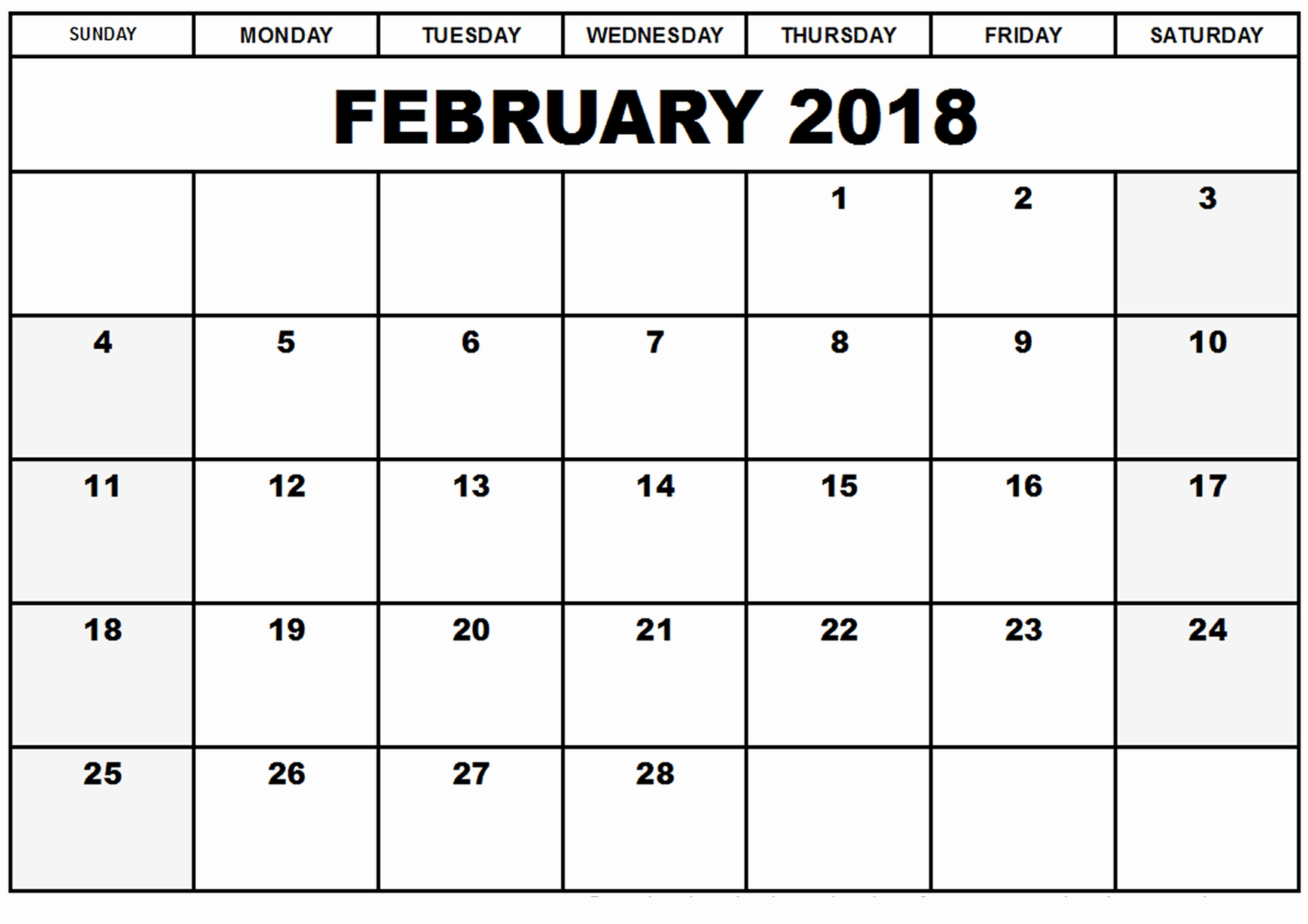 Free event Calendar Template New Free February 2018 Printable Calendar Template
