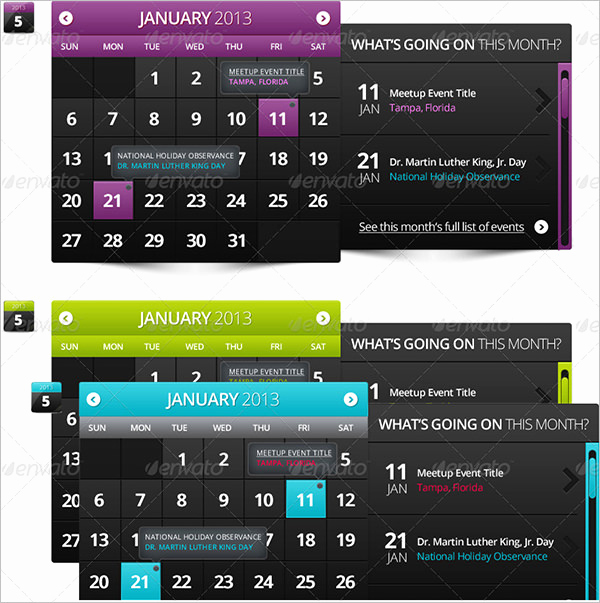 Free event Calendar Template Unique event Calendar Templates 16 Free Download
