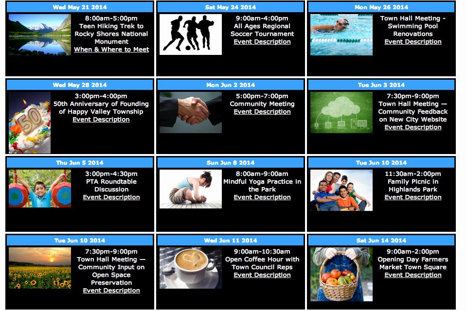 Free event Calendar Template Unique Sample Calendars View Screenshots & Live Versions Of