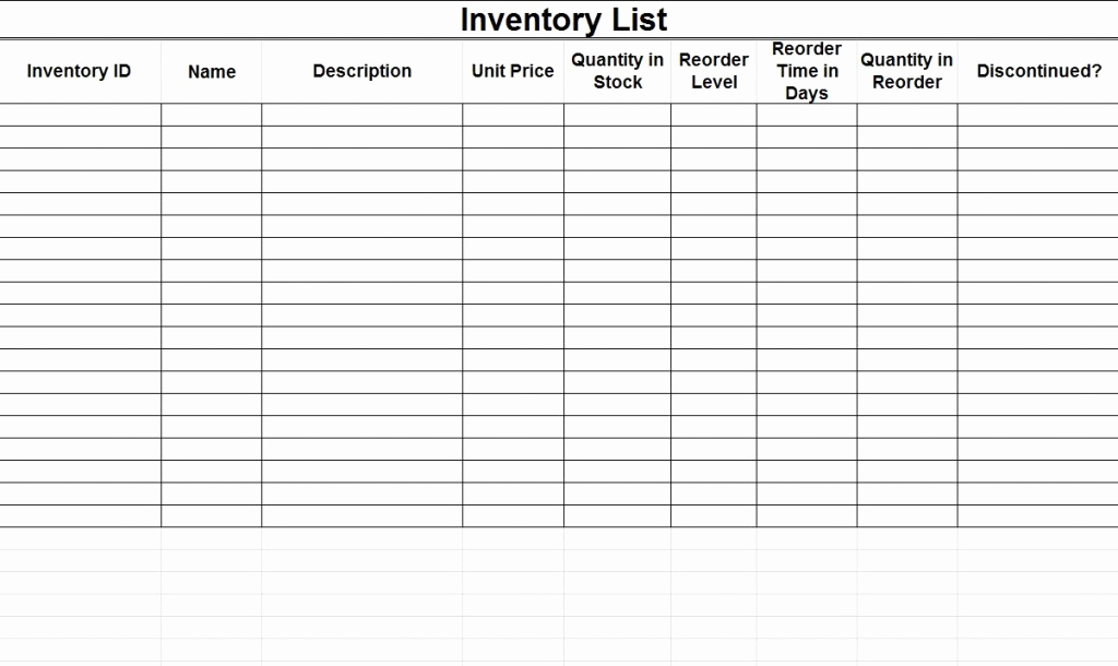 Free Excel Inventory Template Best Of Inventory Template