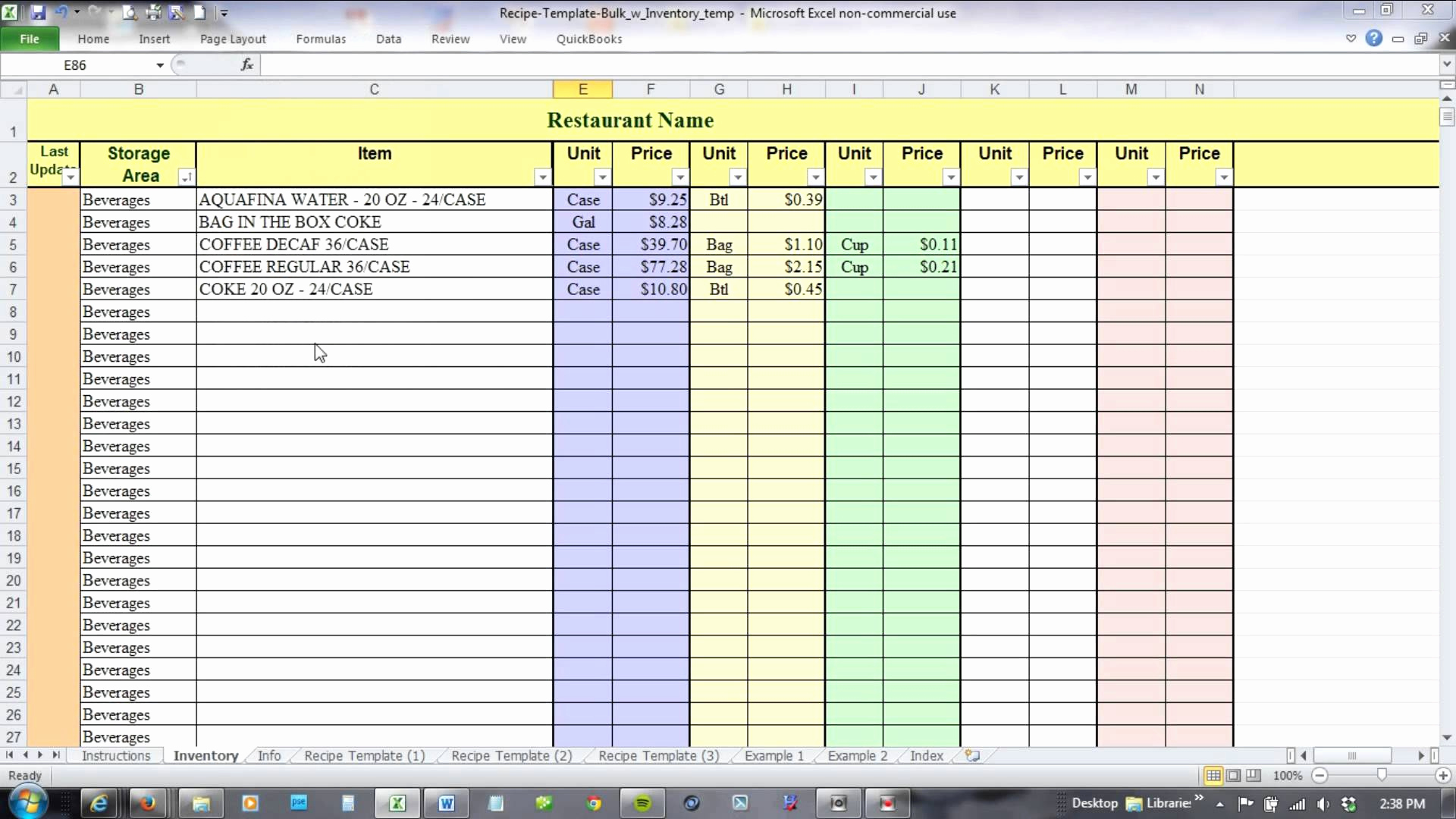 Free Excel Inventory Template Inspirational Sheet Free Food Inventory Spreadsheet Template Excel