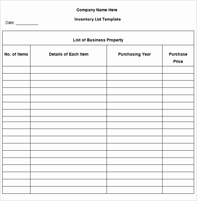 Free Excel Inventory Template Luxury Inventory List Template 13 Free Word Excel Pdf